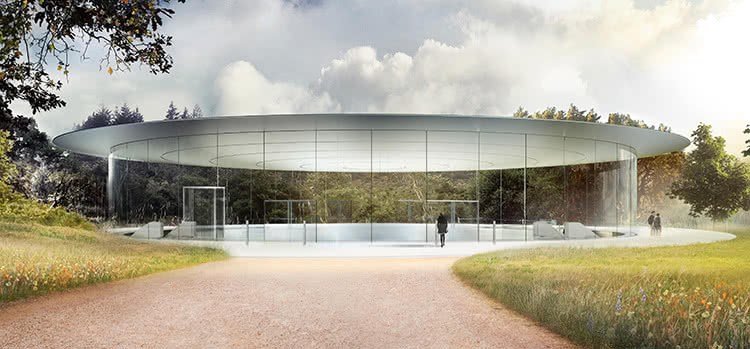 Apple park photo Steve Jobs Theater