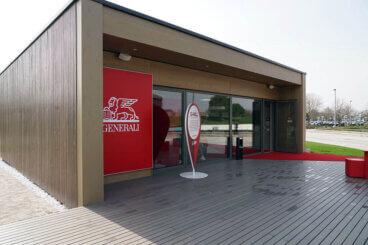 La G-Hall, una delle strutture dell'Innovation Park di Generali Italia a Mogliano Veneto