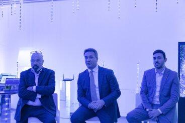 Paolo Canepa, Nicola Procaccio e Biagio Guerrieri di Intel Italia