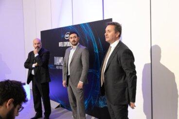 Paolo Canepa, Biagio Guerrieri e Nicola Procaccio di Intel Italia