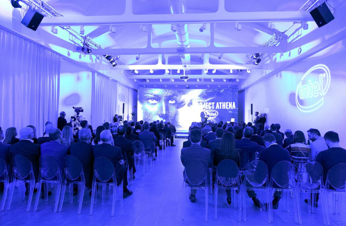 Il palco di Intel Experience Day 2019