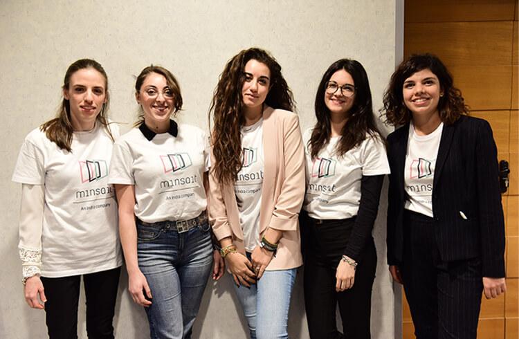 Le vincitrici di Indra hack day 2020