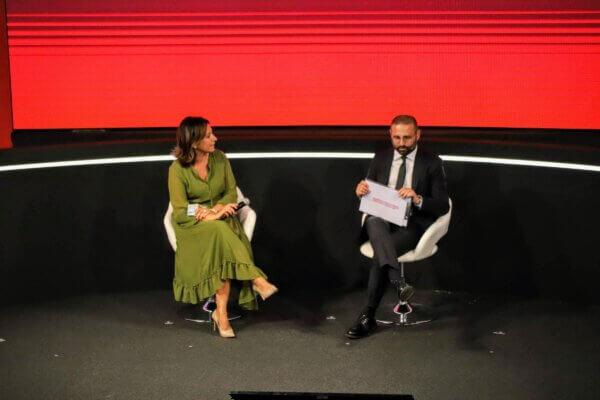 Lucia Sciacca, Direttore Comunicazione e Sostenibilità di Generali Italia, intervistata da Giuseppe De Bellis, direttore di Sky TG 24